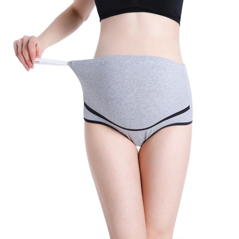 Cotton Maternity Underwear Lingerie Panties Briefs For Pregnancy High Breathable Underwear Pregnant Adjustable Waist