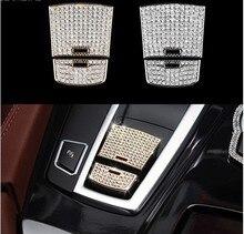 Для BMW 5 6 7 серии X3 X4 X5 X6 F01 F10 F25 F26 F12 F15 F16 автомобиль diamond Стикеры 3D ручной тормоз интерьера Аксессуары