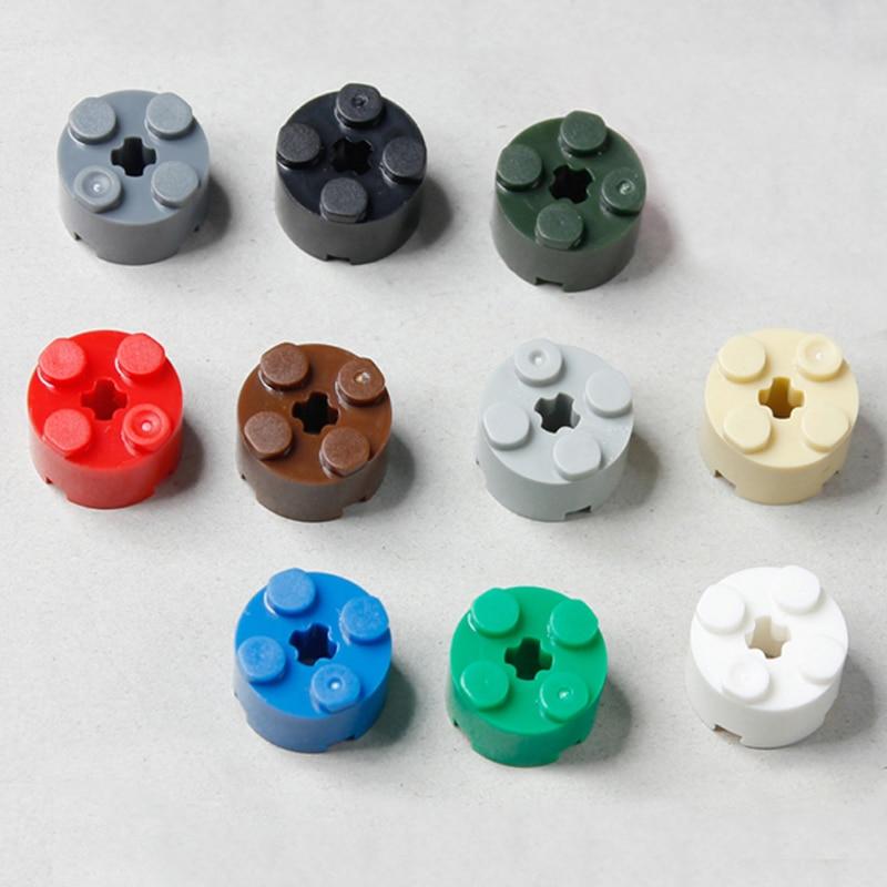 Round 1 x 1 Straight Side Medium Azure RARE 200 NEW LEGO Plate