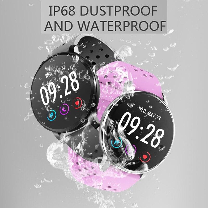 2019 bracelet intelligent IP68 montre hommes moniteur de fréquence cardiaque pression artérielle Tracker Smartwatch Sport montre pour ios android