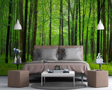 beibehang 3d wallpaper Modern fresh beautiful forest wood personality stereo silk screen landscape mural TV background