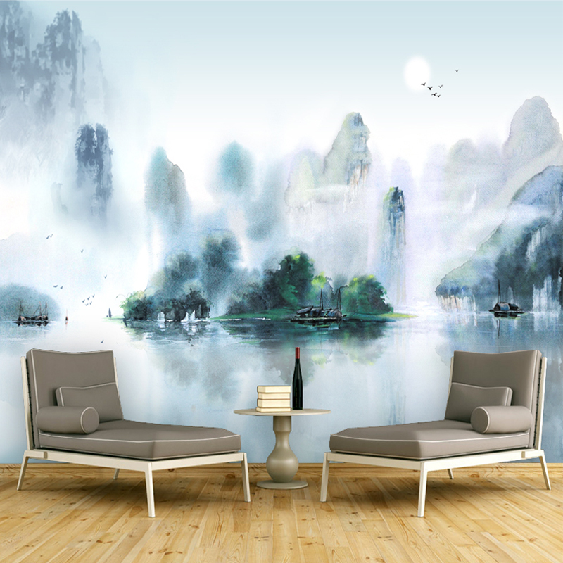 Custom 3D Photo large Wallpaper Hand Painting Chinese style Wallpaper for Wall Landscape Painting TV Background Study home decor 1841art large murals3d can be custom made furniture decorative wallpaper house ornamentation decor wall stickers chinese style