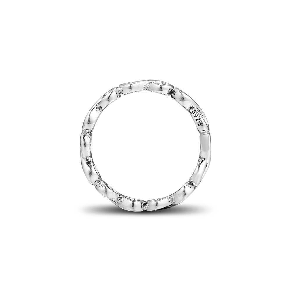 ใช้งานร่วมกับยุโรปเครื่องประดับ 925 เงินสเตอร์ลิงแหวนเงินผู้หญิง Forget Me Infinite Shine แหวนเงิน