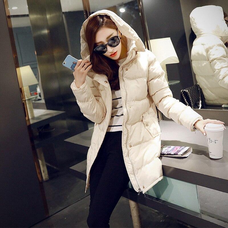 2016 Yeni Kadın Pamuk Yastıklı Ceket Boyutu İnce Sıcak Tasarımcı Kadın Kışlık Mont Ceket Satış Kapüşonlu Kadın