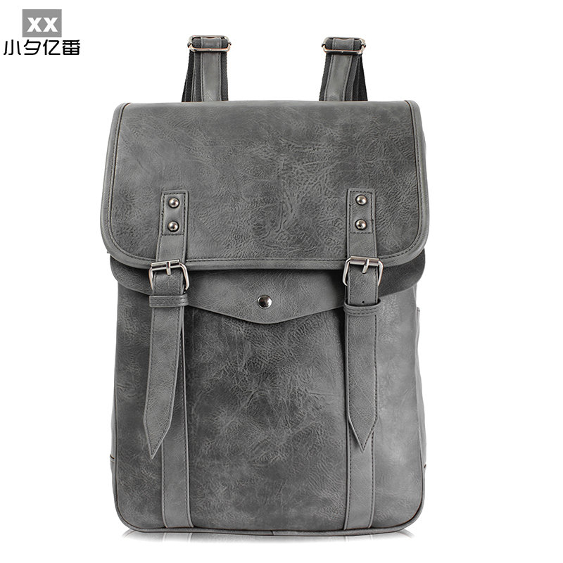 Brand Designer Men Backpacks Leather School Bag for Teenager Girls&Boys Women Backpack Travel Bag Bolsas Mochila Feminina A0142 new brand designer women fashion backpacks simple koran style school for teenager girls ladies shoulder bags black