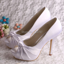 New Sexy Fashion Formal Dresses Heels 12CM Women Prom Bridal Dress Shoes White