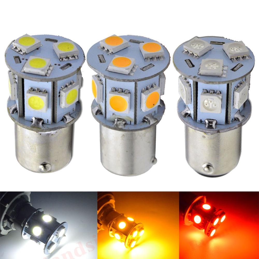 2 STK 6V 1156 BA15S P21W S25 Amber Rød Hvit 5050LED 9Chips Pærer Car Moto Backup Back Up Reverse Bremselys Lampe Amber Led