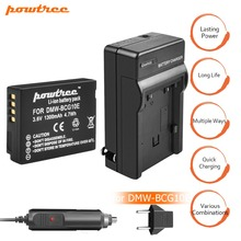 1PCS DMW-BCG10 BCG10 BCG10E Battery 3.6V 1300mAh +charger+Car charger for Panasonic Lumix DMC-ZS19 DMC-ZS20 DMC-ZS25 DMC-ZX1 L10