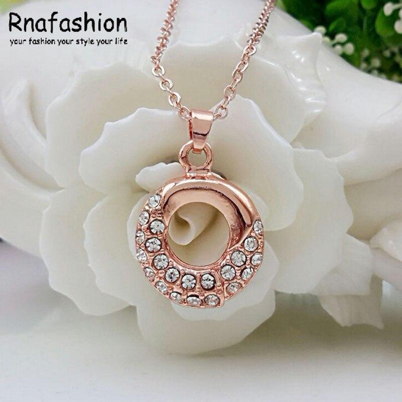 72484384e001 2015 populares rosa delicado círculo de cristal austriaco joyería de moda  collar de 297