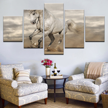 Nordic Modern Art Animals White Horse Wall Canvas Posters And Prints Painting For Living Room Decoration Pictures