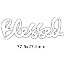 Blessed Enhlish Words Metal Cutting Dies DIY Scrapbooking Embossing Paper Cards Making Crafts Supplies New 2019 Diecut