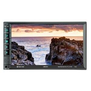 Image 1 - 7902 7 дюймовый сенсорный экран многофункциональный плеер автомобиля mp5 плееры, BT hands free, FM радио MP3/MP4 плееры USB/AUX