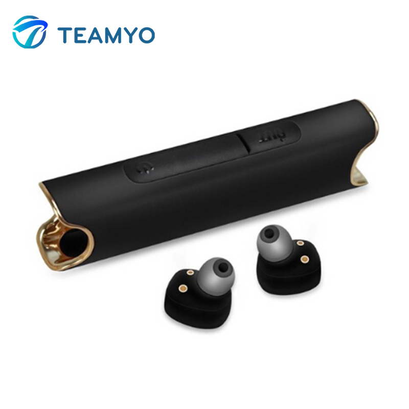 Teamyo Wireless Bluetooth Earphone Stereo Music headset With Mic IP67 Waterproof 850 mAH Box Stereo Earphones For IOS Android