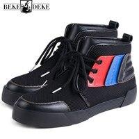 Осень 2018 новые кроссовки Для мужчин на шнуровке Высокая Повседневная обувь из натуральной кожи хип хоп обувь Элитный бренд Для мужчин кросс