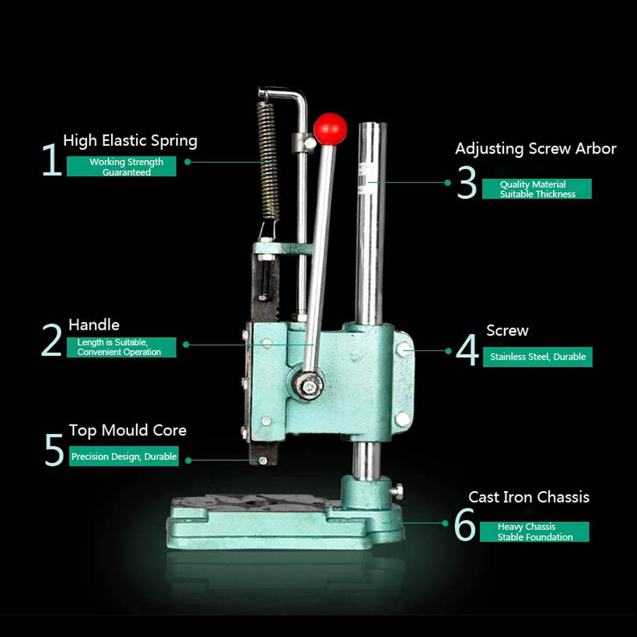 Manual Lab Powder Pressed Machine For Diy Cosmetics Eyeshadow Or Compact Powder Pressing Machine