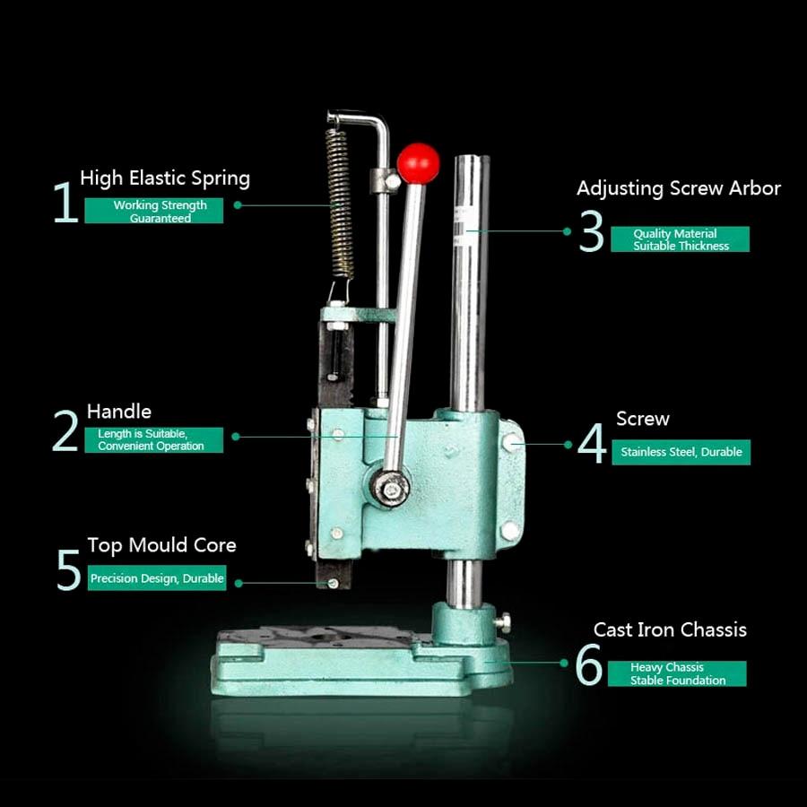 Manual Lab Powder Pressed Machine For Diy Cosmetics Eyeshadow Or Compact Powder Pressing Machine