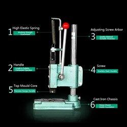 Manuelle Lab Powder Gedrückt Maschine für diy kosmetik lidschatten oder kompaktpuder pressmaschine