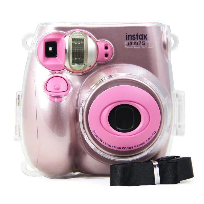 Transparent Shockproof Camera Bag Protect Shell Case Cover With Belt Strap For Fuji Fujifilm Polaroid Instax Mini7C Mini 7S