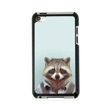 Fashion Man Shape Animal Funny High Quality Fashion UV Black Bag Case For iPod 4
