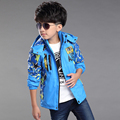 HOT Teenage boy spring star pattern coat Outerwear   New spring boy full jacket &  kids clothes & 11&12 years old kids coat