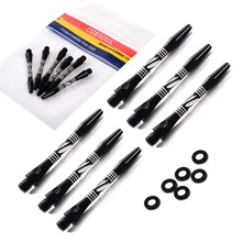 CUESOUL 2 Set Dart Shaft,Black Dart Shaft With Dart O'rings For Darts,Aluminum Dart Shaft