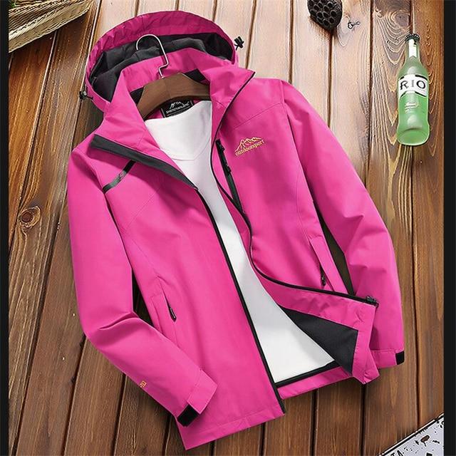 Women s Casual Waterproof Windproof Jacket Hooded Coat Spring Autumn Breathable Tourism Mountain Windbreaker Jackets Female