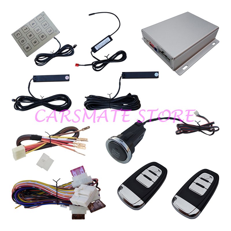 Intelligent PKE Car Alarm System Passive Keyless Entry Remote Start Push Start Automatic Owner Identify for