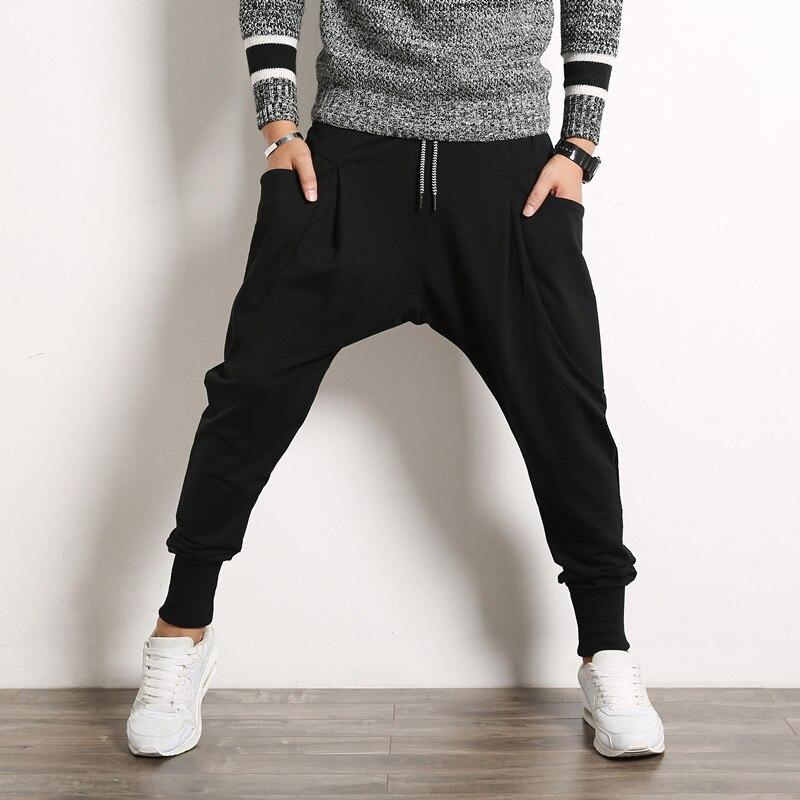 hombres 5XL Hip pantalones Mens Pantalones Baggy bolsillos moda Hop Casual Stretch Harem deportivos Pantalones grandes 2018 streetwear agEzxUTwqw