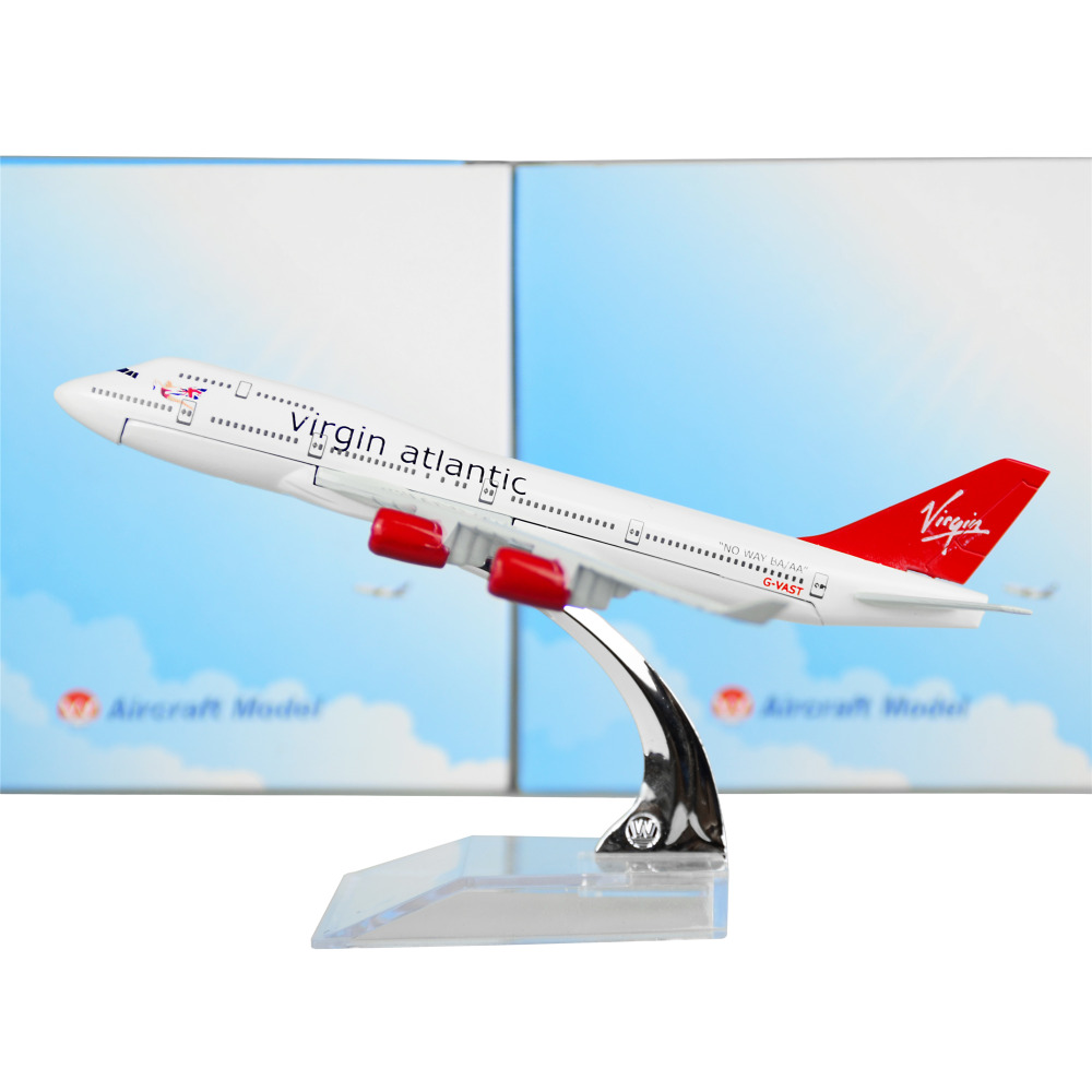 England British Virgin Atlantic Airways B747 plane model metal 16cm child Birthday gift plane models Free Shipping
