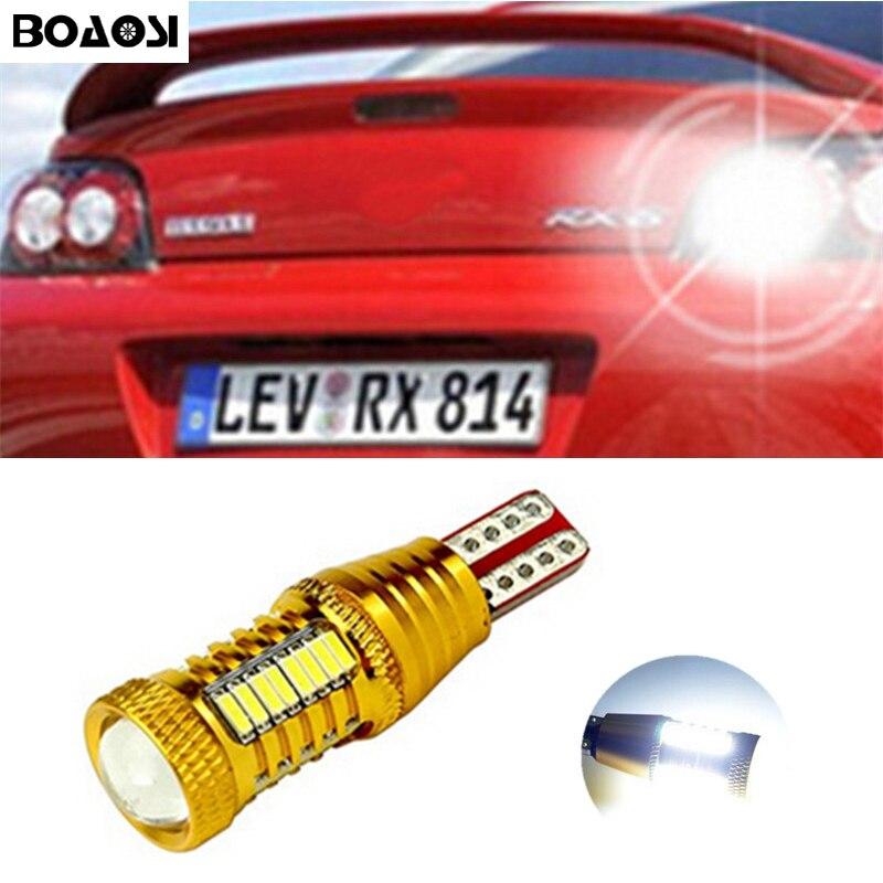 BOAOSI 1x Backup Reverse Light Lamp T15 W16W LED 2835 Chip Bulb For mazda 6 8 cx-3 cx3 cx-5 cx5 8 cx 5 m8 rx8 mazda m5 2008 2x canbus car led light bulb 7440 7443 2835 smd12v auto light reverse backup lighting for 2014 mazda 5 6