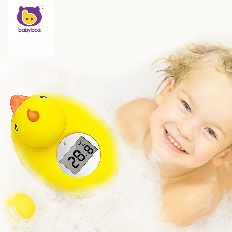 Babybbz Baby Water Shower Thermometer Bath Temperature Pool Beaute Cartoon Duck Test Water Sensor Thermometer for Children