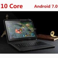 Бесплатная доставка Смарт планшетный ПК s android 3g 4 г планшетный ПК 10,1 дюймов Android 7,0 10 Core планшетный компьютер android Rom 64 ГБ 128 ГБ
