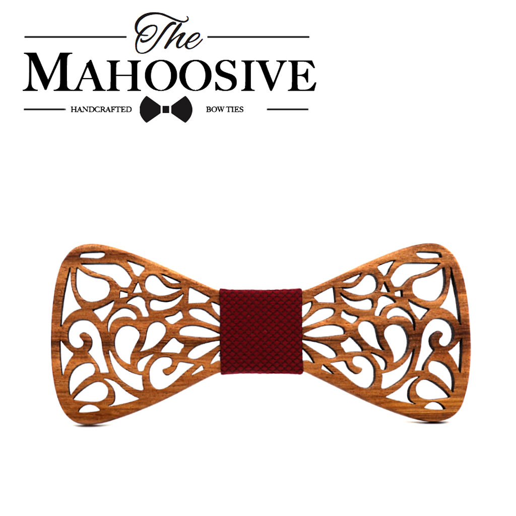 Mahoosive New Floral Wooden Bow Ties for Males Bowtie Hole Butterflies Marriage ceremony go well with picket bowtie Shirt krawatte Bowknots Slim tie HTB1vPuhg6QnBKNjSZSgq6xHGXXaS
