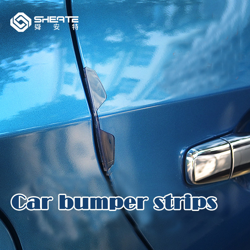 SHEATE 4pcs Car bumper strips Doors protection Corner Guard stickers Paint care Soft rubber Anti crash
