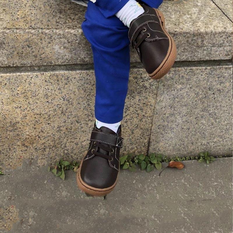 Echt leer kinderen schoenen herfst kinderen casual jongens schoenen - Kinderschoenen - Foto 2