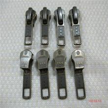 10pcs/lot 5# YKK Metal Zipper Slider Runner  Head Pull Bronze Silver Vintage Rose Gold for Instant Repair Fix