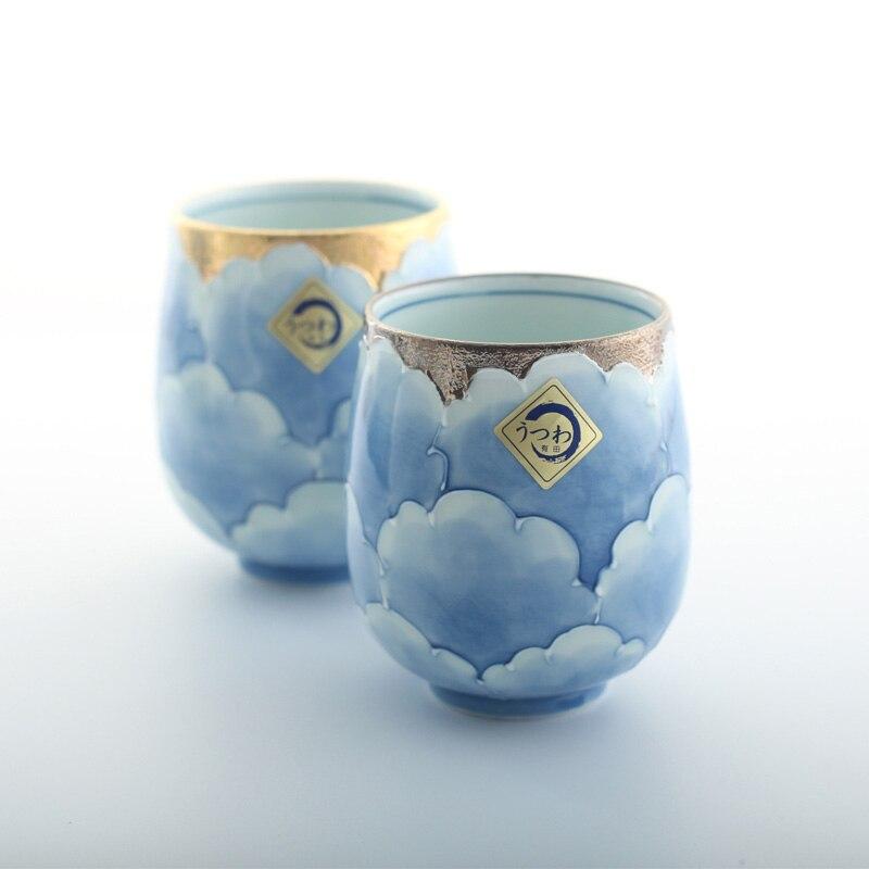 Сделано в Японии Профессиональный Классический пион ручной работы под остеклением Высокое качество Экологичные чайные чашки и кружки золо... - 2