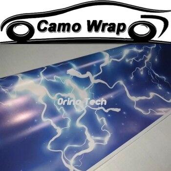 ORINO Vehicle PVC Thunder Film Vinyl Lightning Car Wrap Sticker Camouflage Foil Film Car Full Body Wraps ORINO