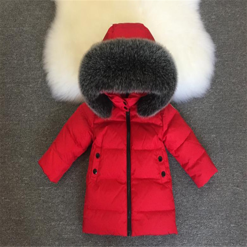 Children White Duck Down Jackets And Coats 2018 Kids Thick Warm Outwear For Baby Boys Girls 18M-12Y Clothes children autumn and winter warm clothes boys and girls thick cashmere sweaters