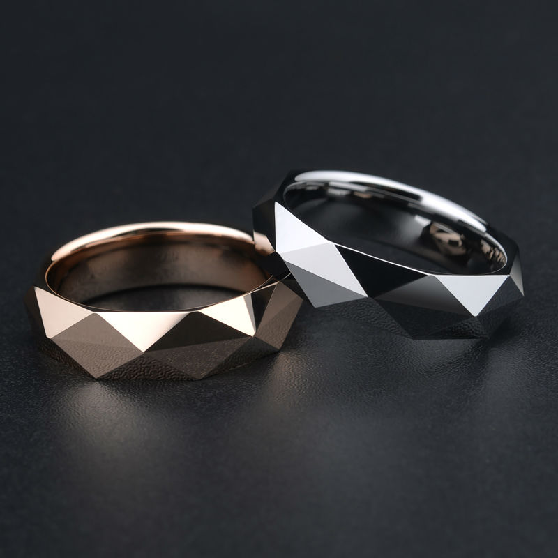 2017 New Arrival Rose Gold/Silver/Black Tones 4/5.5MM Width Tungsten Rings Man's Woman's Fashion Jewelry Size 7-11 for Wedding