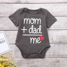 Топы для новорожденных мальчиков и девочек с буквенным принтом, боди, комбинезон, Одежда для новорожденных мальчиков и девочек