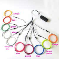 Najnowszy 2.3mm 1 M 10 sztuk niestandardowe kolory elastyczny przewód EL elektroluminescencyjne drutu miga Neon świecące do taśmy LED zabawki wystrój