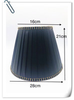 Lamp shade for table lamp Solid back wave pattern gold edge lampshade Fashionable Decorative E27 table lamp cover for bedroom