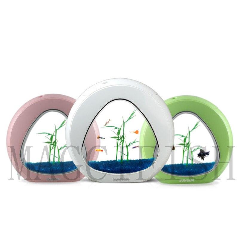 SUNSUN écologie poisson réservoir intégration filtre lumière LED système Mini Nano réservoir bureau Aquarium 4L 6L 110 V-240 V