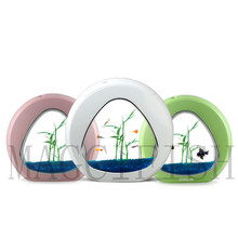 SUNSUN Экология аквариума интеграции фильтр светодиодный свет Системы Мини Nano бак офисе аквариум 4L 6L 110 В-240 В