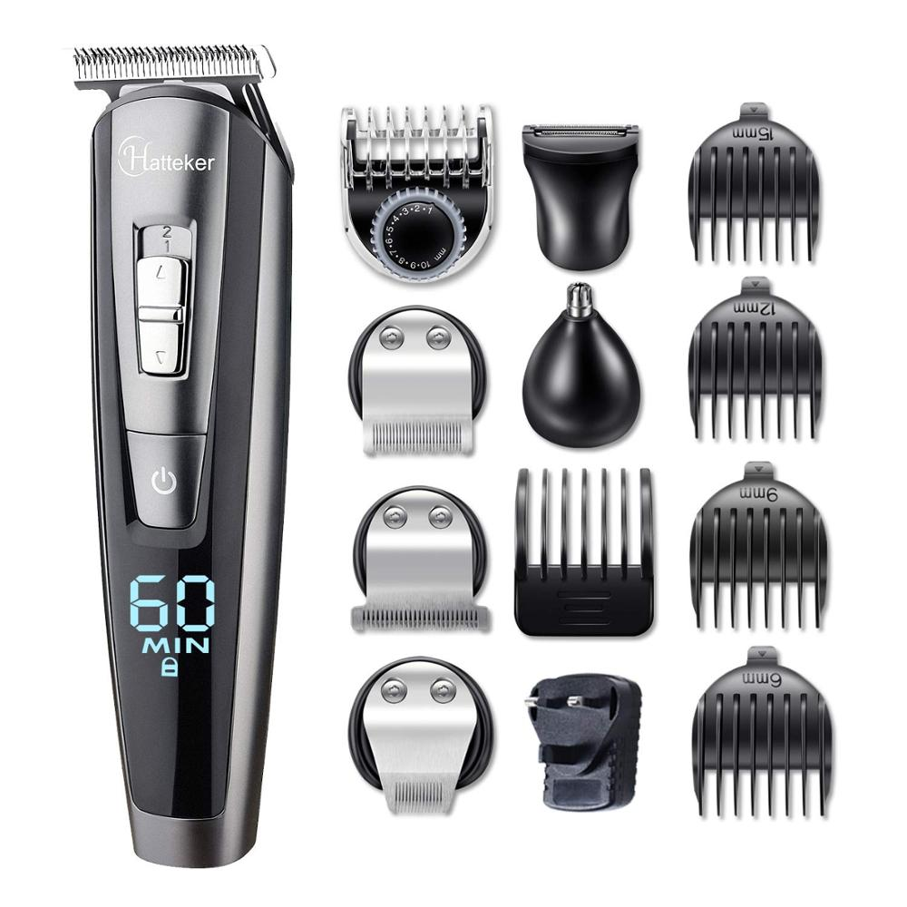Image 5 - cordless beard trimmer hair cutter electric haircut machine groomer body trimmer male trim rechargeable mustache trimming-in Hair Trimmers from Home Appliances