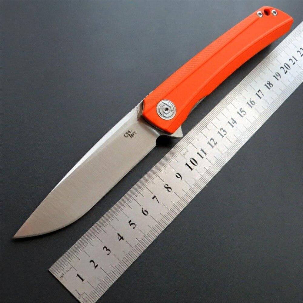 Eafengrow nouveauté CH3002 Camping couteaux pliants D2 lame en acier G10 poignée tactique couteau d'extérieur chasse outil de survie