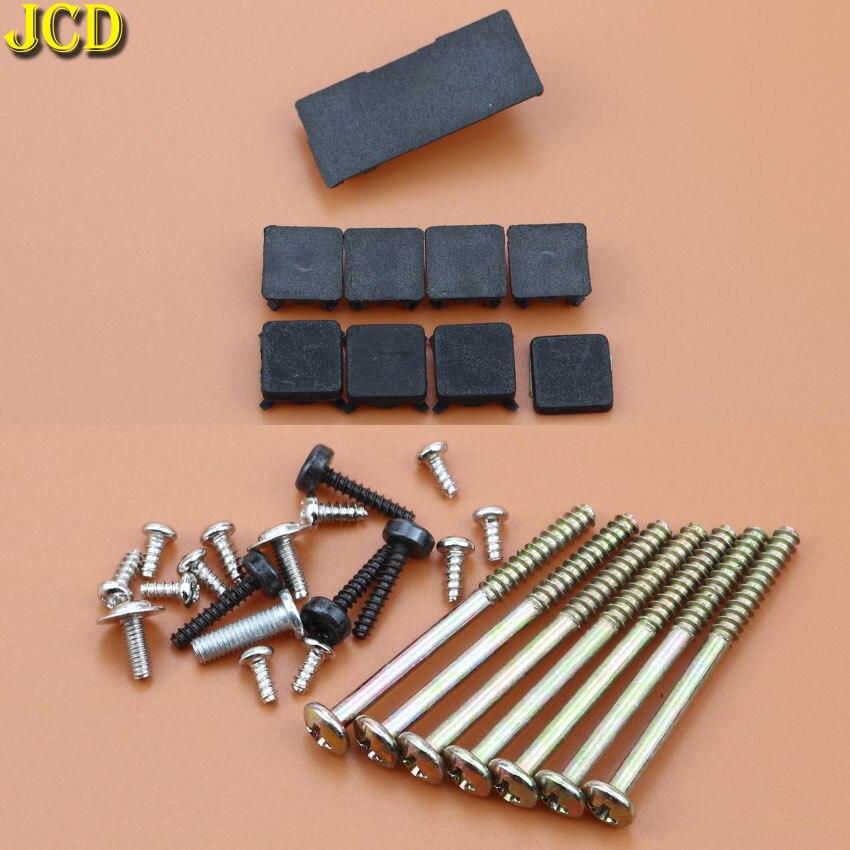 JCD 9pieces/set Black Rubber Plug Screw Hole Pad Dust Plug Plastic Pad For PS3 Slim 2000 / 3000 Console