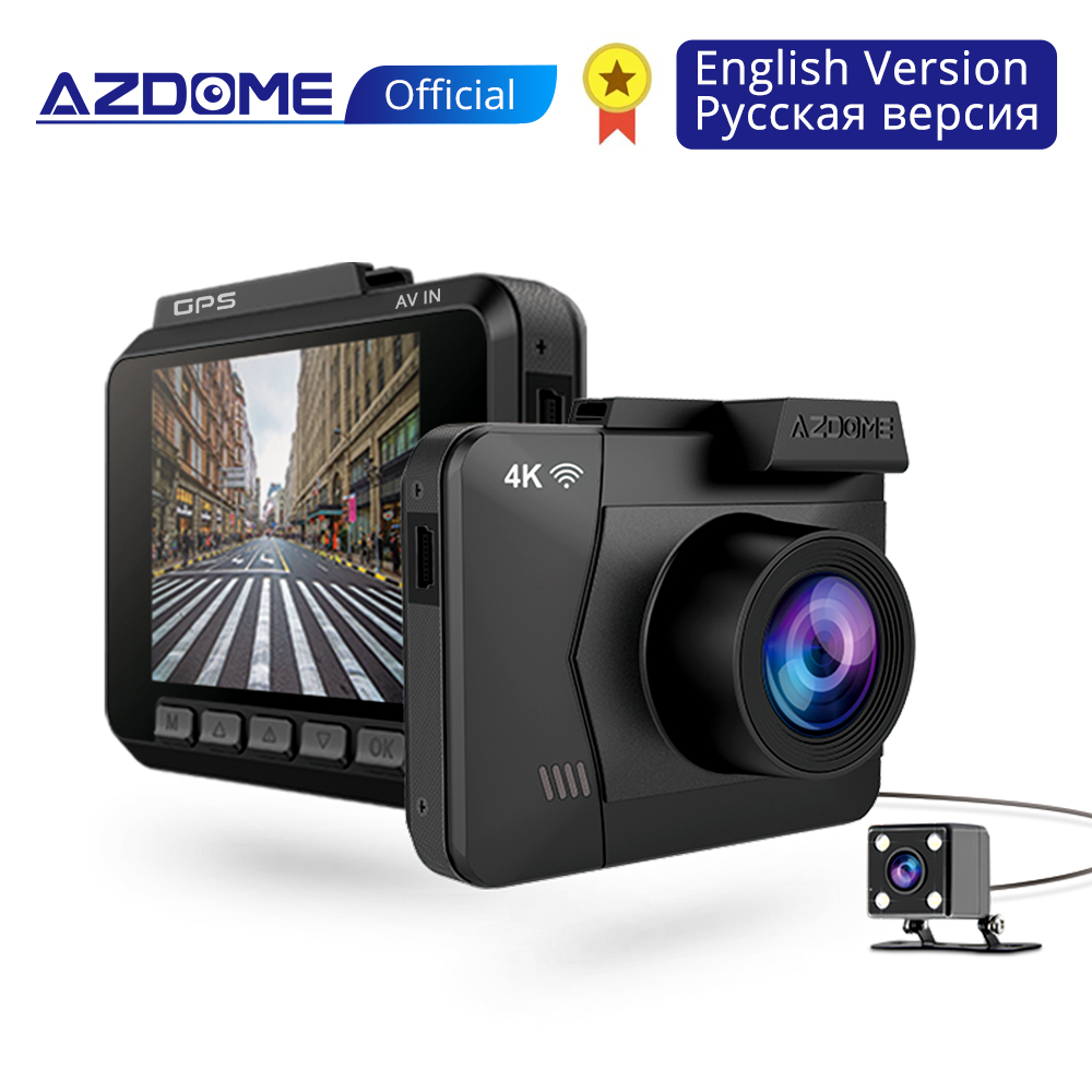 AZDOME M06 Dash Cam Built in WiFi GPS Car Dashboard Camera Recorder with UHD 2160P, 2.4