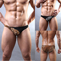 Sexy Mens Underwear Jockstrap Briefs Bulge Pouch Thong Shorts Leopard Underpants G-String Male Lingeries Intimate String Homme